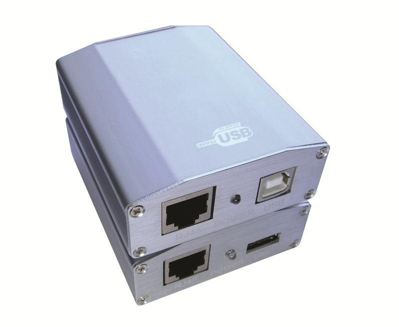 通过长线驱动器可以通过网线把wtu与连接电脑的usb连